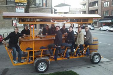 Matt Graham, who operates PedalPub in Chicago, said the city won't give him a business license.