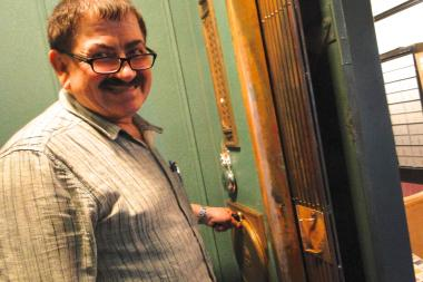 Victor Maslon has worked inside of the Northwest Tower's hand-operated elevator at 1600 N. Milwaukee Ave. in Wicker Park since 1985. After 28 years of service, Maslon's last day of work was Friday.
