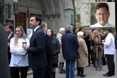 A memorial service for chef Charlie Trotter was held at Fourth Presbyterian Church Monday morning.