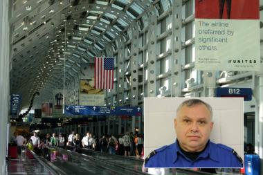 TSA worker Angel Velazquez allegedly stole $8,500 from an air traveler's checked bag at O'Hare Airport in mid-November.