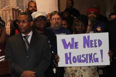 Public housing advocates, including several aldermen, urged Mayor Rahm Emanuel to better monitor the activity of the Chicago Housing Authority and its efforts to redevelop public housing.