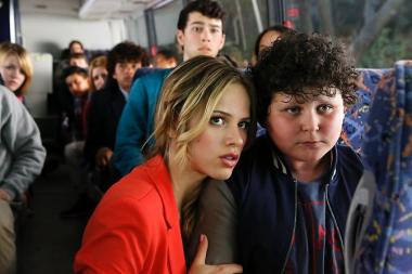 "Halston Sage (l.) plays Amber Fitch and Joshua Erenberg (r.) plays Anton Roth on the NBC drama, ""Crisis."""