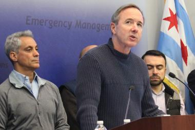 "Backed by Mayor Rahm Emanuel, CTA President Forrest Claypool announces he expects ""regular service for the afternoon rush"" Monday."