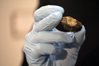 The Field Museum got a new addition last week: a green meteorite that could've come from the asteroid belt.