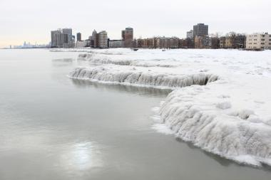 Residents of Rogers Park said they ventured out on lake ice to take in its natural beauty.