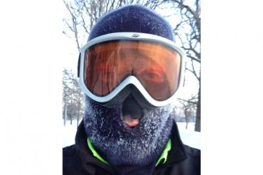 River North resident Matan Korrub shared Ricardo Martinez's passion for Monday's cold conditions. Korrub, 31, who has completed three marathons and averages about 40 miles a week, jogged three miles on the lakefront path starting at Division Street.