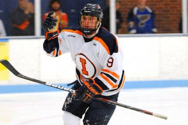 University of Illinois junior Jacob Matysiak has scored five goals in 31 games for the Illini Hockey team, which advanced to the upcoming national tournament.