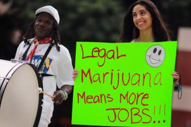 Marijuana activists tout the economic benefits of legalizing its use in Florida.