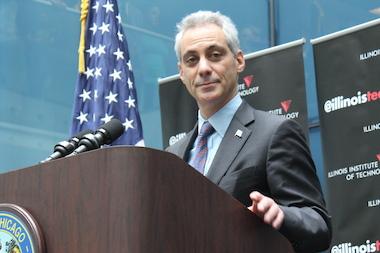 "Mayor Rahm Emanuel said a new IIT building solidified Chicago ""as the epicenter of innovation."""