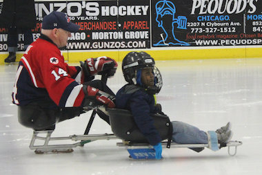 The RIC Blackhawks sled hockey team helped kick off the Paralympic Games with a demonstration of their adaptive sport.