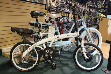 E-bikes are lined up at Kozy's, which has sold about 50 at the cycle shop's four Chicago locations so far this year.