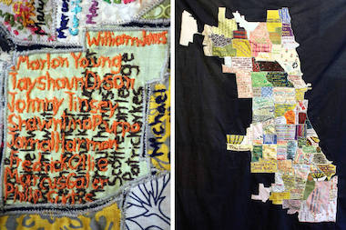 South and West Side artists hand-stitched the names of each 2013 homicide victim.