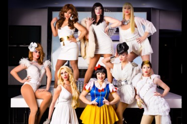"Part of the cast of ""Snow White and the Seven Drag Queens"""