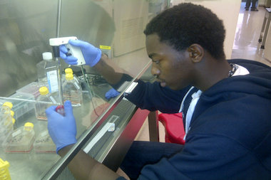 Chicago High School for Agricultural Sciences graduate Keven Stonewall, of Ashburn, is hoping to develop a cure for colon cancer. He's now a rising sophomore at the University of Wisconsin.