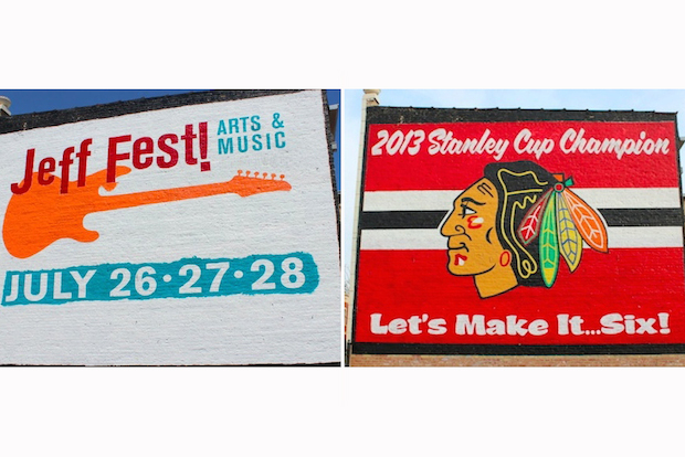 Blackhawks mural repainted reminder of loss too for Blackhawks mural chicago