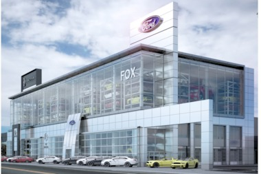 Fox ford lincoln breaks ground after political delay for Fox motors grand rapids