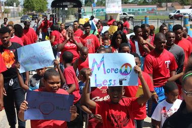 CPS Safe Haven Rally: 'Violence is Not the Answer'
