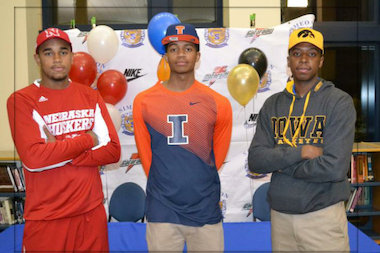 Simeon's Edward Morrow (Nebraska), D.J. Williams (Illinois) and Isaiah Moss (Iowa) all signed to play college basketball for Big Ten teams on Wednesday, which was national signing day.