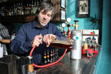Bar manager Derek Payne is now serving up fizzed-infused cocktails at ...