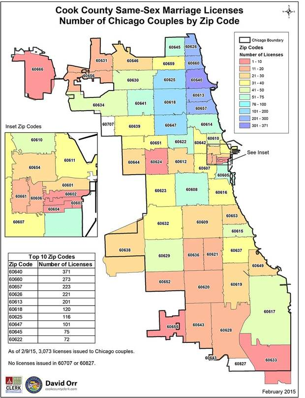 Which Chicago Neighborhoods Have the Most SameSex Marriages