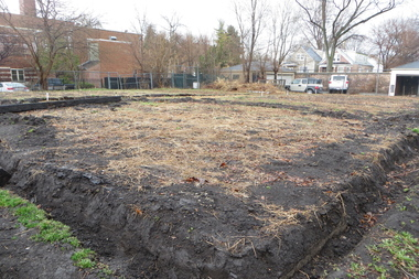 Future strawberry fields at Pie Patch Farm, 5041 S. Laflin St.