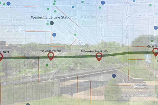 Bloomingdale Trail Map and The 606 Where to Eat Drink and More