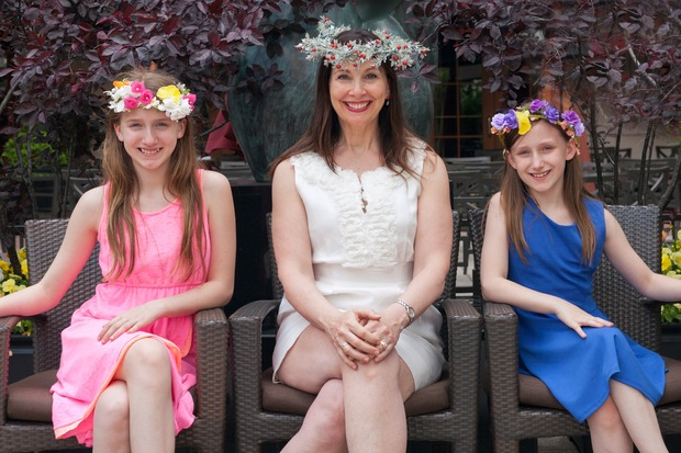 Amelia Case (center) and her daughters Isabella and Sophia are raising money to publish their