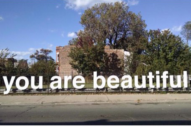 Local Artist S You Are Beautiful Display Debuts In