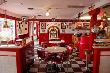 From empty store to 50s diner artist group wants to for 50s diner style kitchen