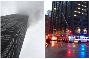 The fire reportedly started in the 50th floor of the Downtown skyscraper.