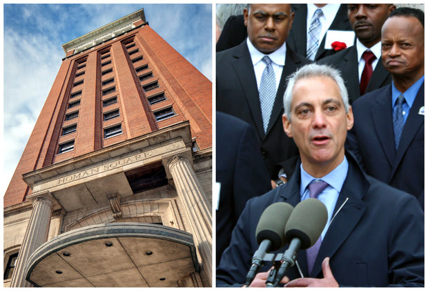 Mayor Rahm Emanuel was joined by North Lawndale leaders to celebrate the reopening of historic Sears, Roebuck and Co. Tower in North Lawndale. The tower, at 906 S. Homan Ave., will serve as a community hub driving revitalization in the neighborhood.