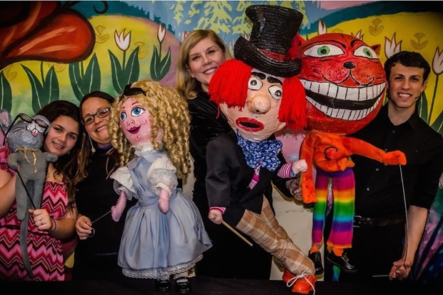 Jean Vanier (center) is a North Beverly puppeteer. She will perform the