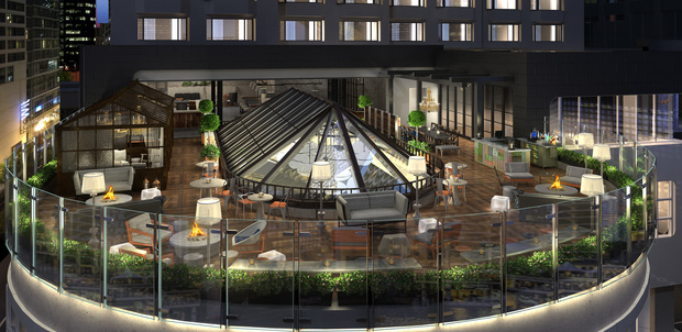 new rooftop bar with river views planned for wacker drive. Black Bedroom Furniture Sets. Home Design Ideas