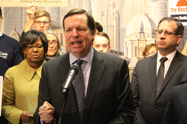 Backed by Aldermen Michelle Harris and John Arena, Ald. Joe Moore says,