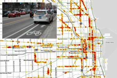 A Cyclist's Revenge: City Cracking Down on Cars in Bike Lanes, Data Shows