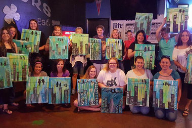 See how these painters learned to make blackhawks works of for Painting class chicago
