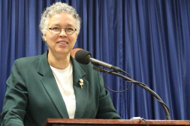 Cook County Board President Toni Preckwinkle added her support to a bill on same-sex marriage now in the General Assembly.
