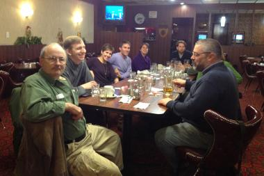 The Chicago Libertarian Group's Watch Party at the Lincoln Restaurant Tuesday night.