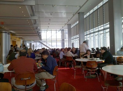<p>The New York Times&#39; cafeteria.</p>