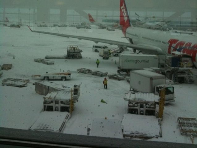 <p>JFK Airport during a previous storm.</p>