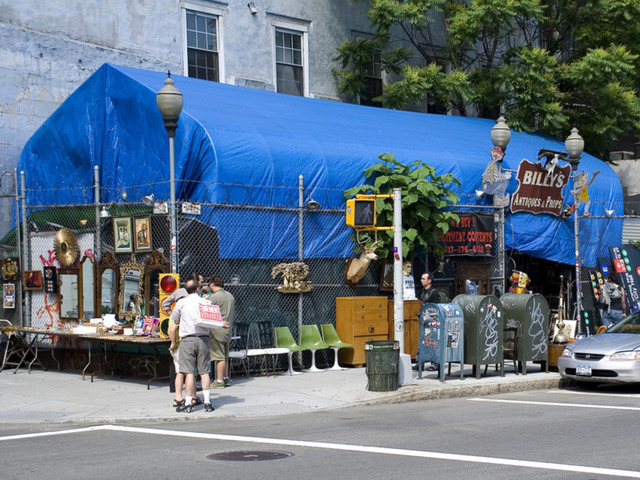 Billy's Antiques & Props, located at the corner of East Houston and Elizabeth streets.