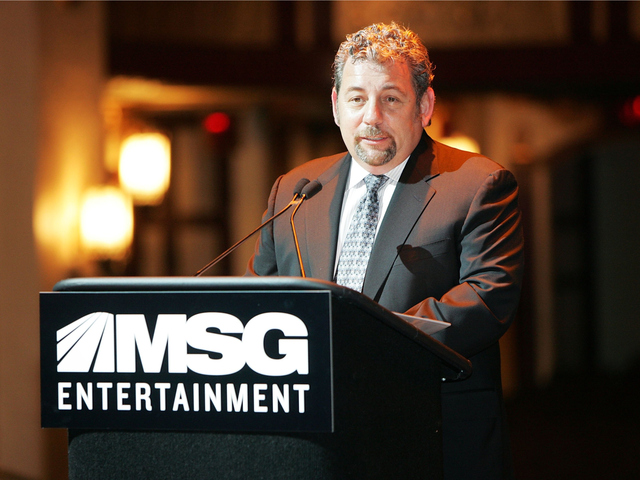 <p>Communications Workers of America members accuse Madison Square Garden Company executive chairman and Cablevision CEO James Dolan of labor violations.</p>