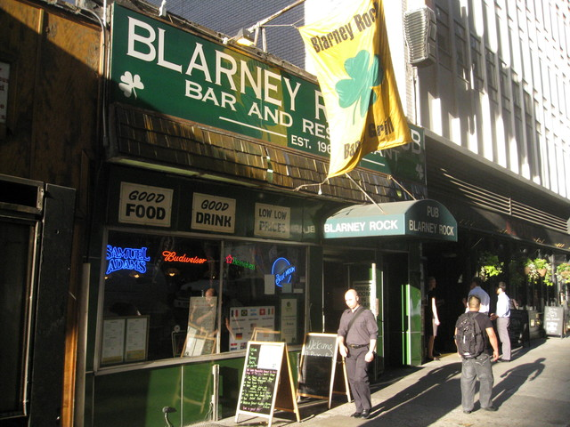 The Blarney Rock Bar and Restaurant is one of three establishments on the block that will be displaced by construction.