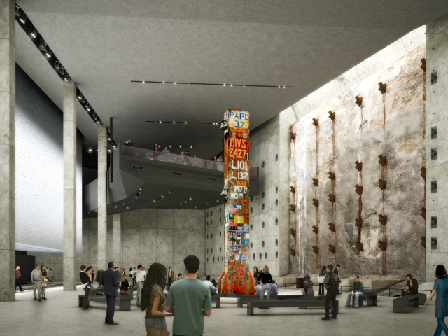 The Last Column, covered in mementos, will be a major feature of the 9/11 museum.
