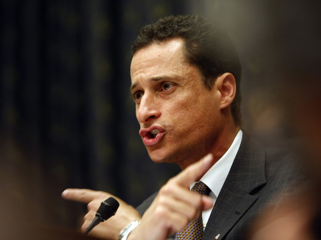 <p>New York Rep. Anthony Weiner said a hacker sent a picture from his Twitter account. He&#39;s pictured here on the House floor after the 9/11 Health Car Bill was voted down last year.</p>