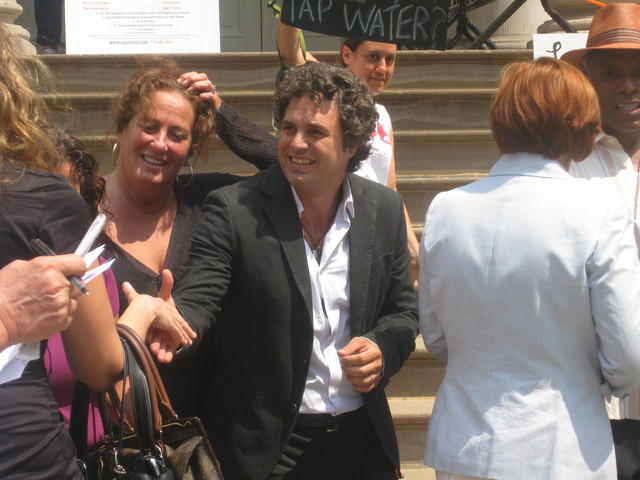 Actor Mark Ruffalo brought a little star power to City Hall.