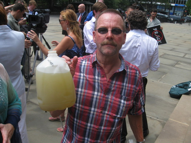 Craig Sautner, 57, from Dimock, PA, said the same drilling contaminated his family's water supply.