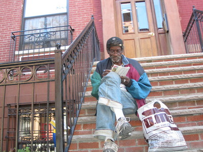 "They are going up too high, said area resident Lawton Mack, 61, a former security guard while sitting on the steps of a 123rd street brownstone doing a crossword puzzle. ""It's like that mosque at Ground Zero. Why build something where you don't belong?"