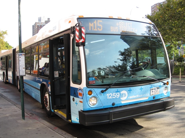 An M15 Select Bus, which runs along First and Second avenues.