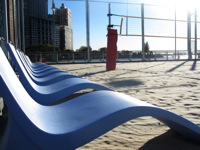 <p>A new section of Hudson River Park opened in TriBeCa this fall, featuring a rebuilt 125,000-square-foot Pier 25, with sand volleyball courts, miniature golf, a field and a playground. The new section also includes an instantly popular skate park and basketball courts.</p>